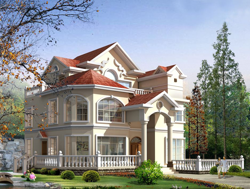 重慶歐式三層輕鋼別墅