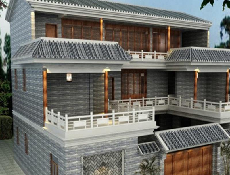 重慶中式三層輕鋼別墅