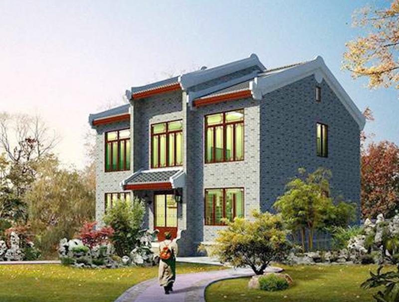 中式二層輕鋼別墅