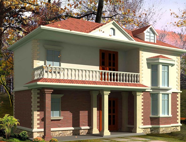 歐式二層輕鋼別墅