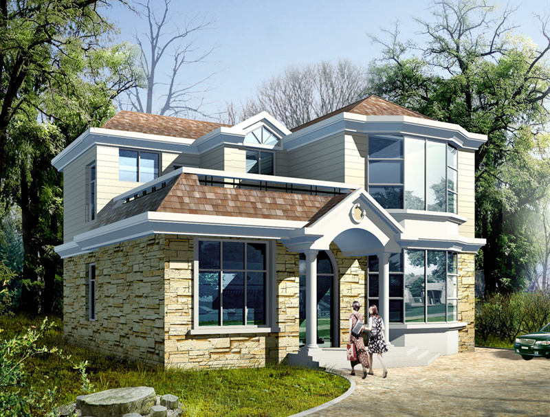 二層歐式輕鋼別墅